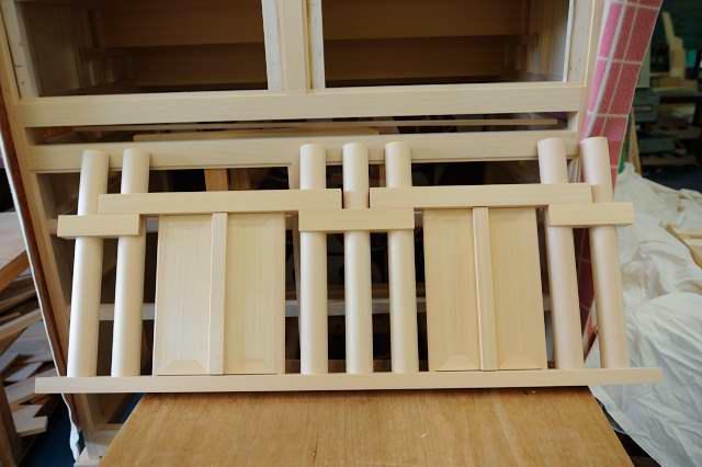 御霊舎施工例12 別誂え御霊舎の製作御扉を2つ製作