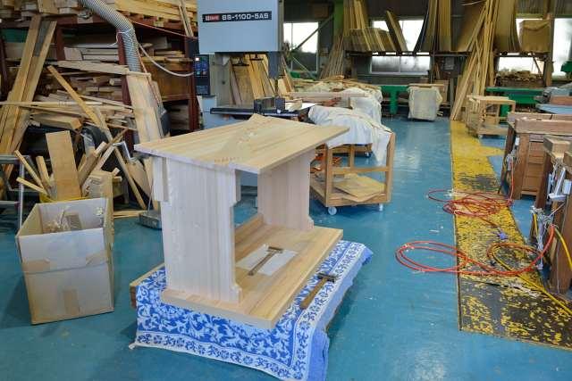 施工例14別誂えの神棚板の製作 屋根製作
