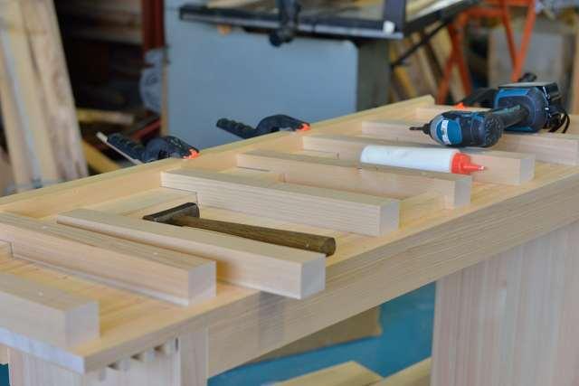 施工例14別誂えの神棚板の製作 屋根下地