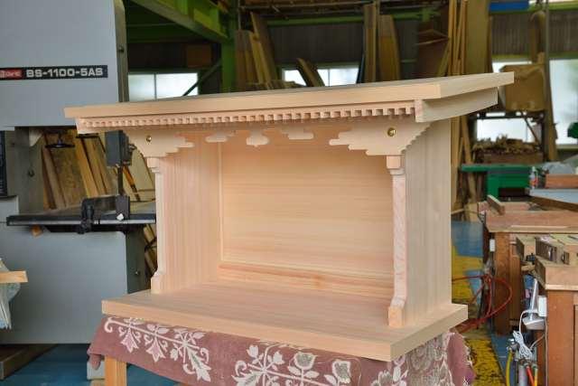 施工例14別誂えの神棚板の製作 完成