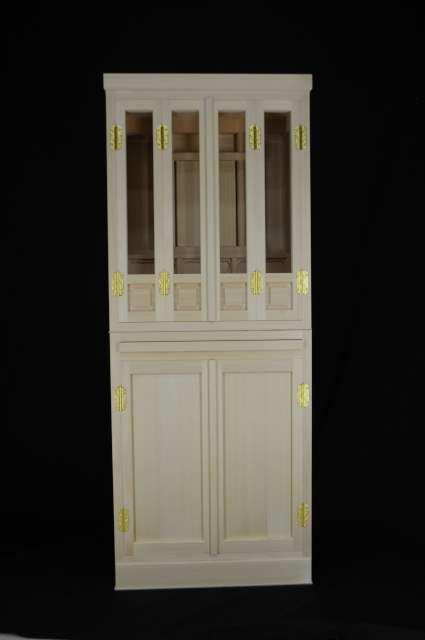 小5尺型御霊舎の下部を開き戸に変更