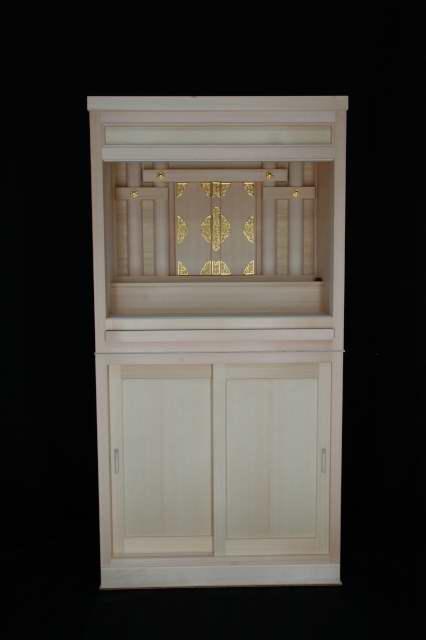 3尺型御霊舎の下部の高さを変更