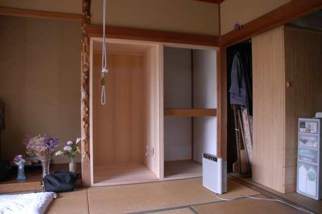 御霊舎施工例3 御霊舎設置工事 押し入れを改装