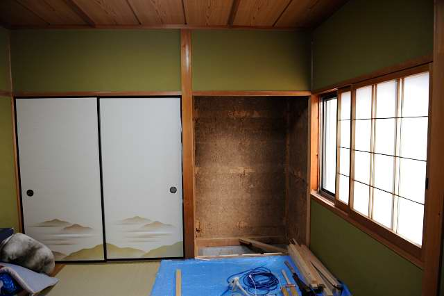 御霊舎施工例5 家具解体