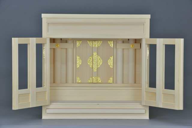 2尺型御霊舎 ガラス建具内部