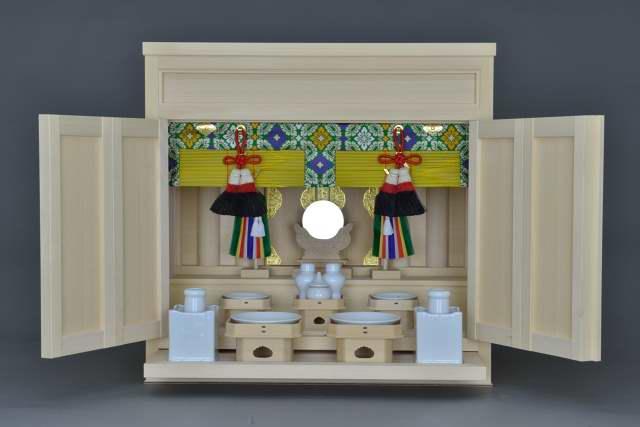 2尺型御霊舎板建具 標準神具セット