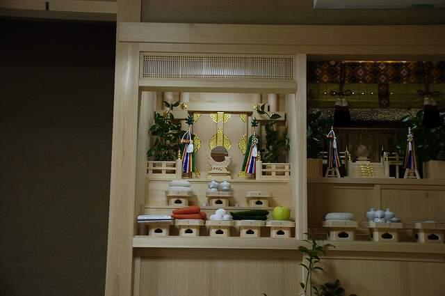 御霊舎施工例2 御霊舎のお供え