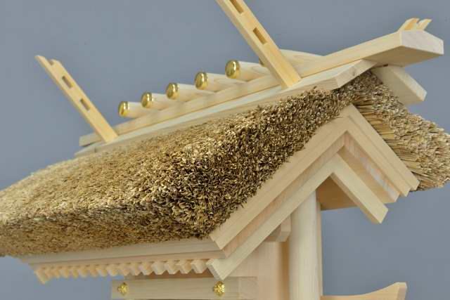茅葺袖付宮 茅葺屋根