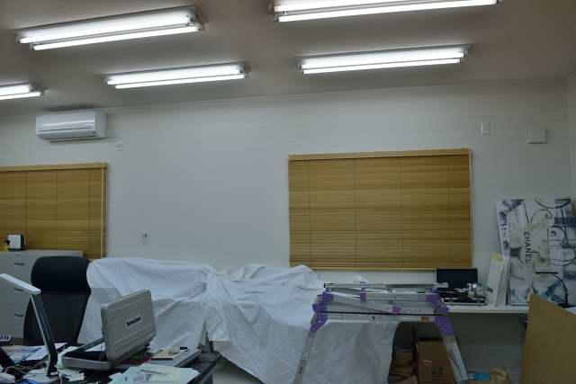 施工例13 雲板付格子棚板の取付 施工前