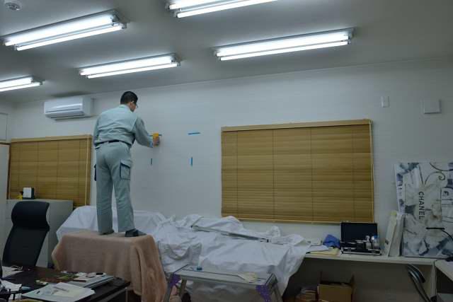 施工例13 雲板付格子棚板の取付 施行準備