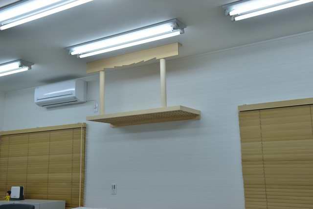 施工例13 雲板付格子棚板の取付 完成