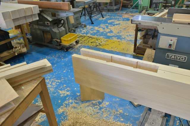 施工例15冠木門の製作 まぐさの加工
