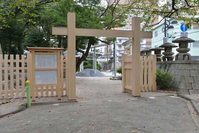 施工例15 冠木門の施工工事