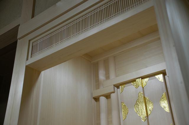 御霊舎施工例2 御霊舎の天井取付
