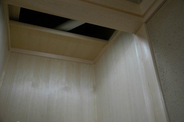御霊舎施工例2 神棚の天井取付