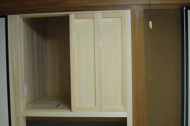 組み込み式御霊舎,祖霊舎,神徒壇 施工例1-2 板建具取付