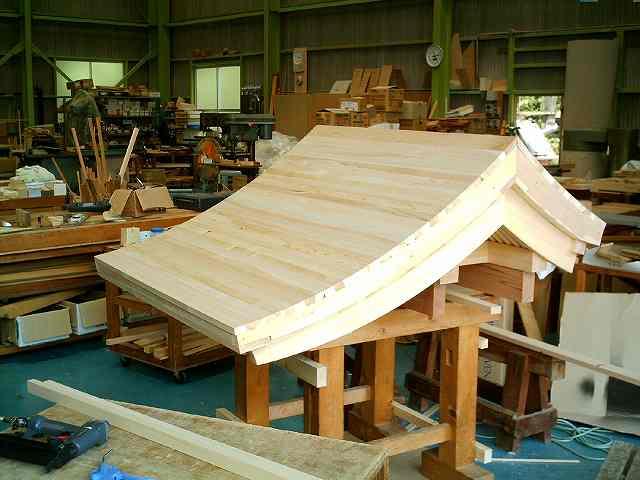 略式流れ造宮 2尺 銅板屋根下地