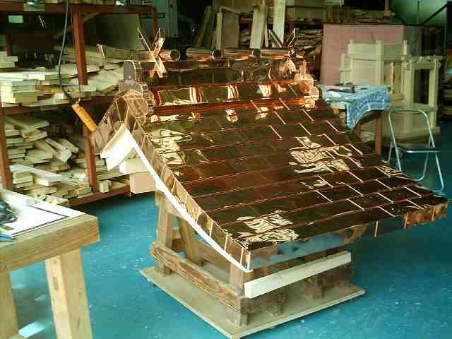 略式流れ造宮 2尺 銅板屋根