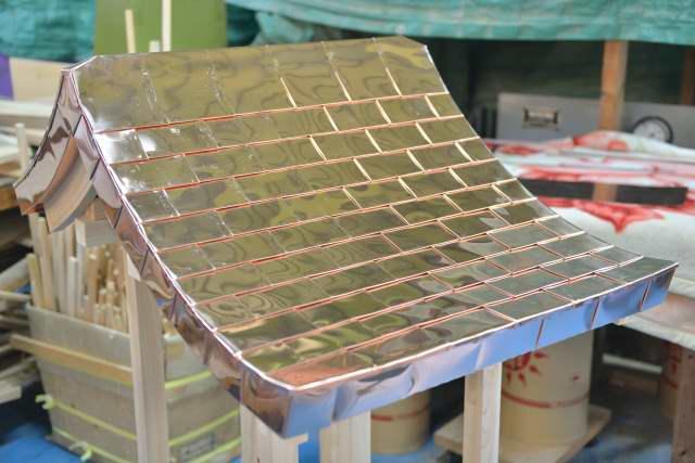 稲荷宮7寸 銅板一文字葺屋根