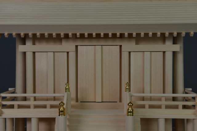厚屋根通三社宮(中) 金具なし 御扉