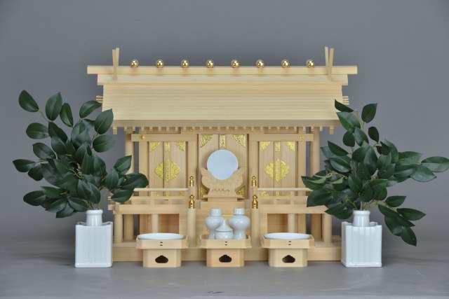 厚屋根三社宮(中)金具付 標準神具セット