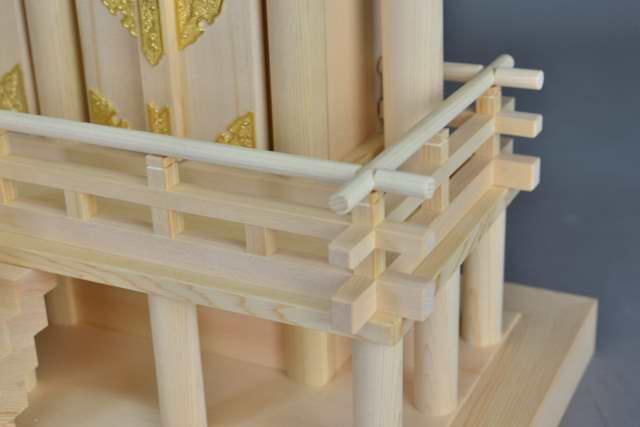 厚屋根通三社宮(中) 金具なし 高欄