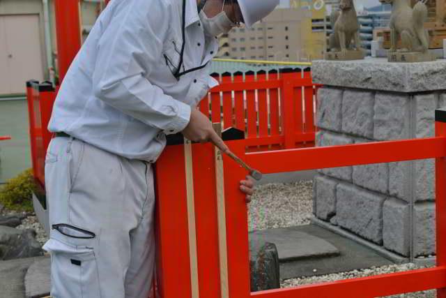 稲荷玉垣の垣板