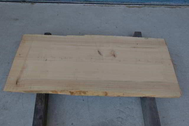桧一枚板015 木裏