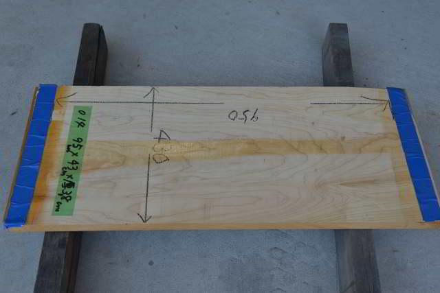 桧の一枚板014 木表