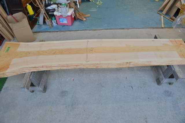 桧の一枚板010 木表