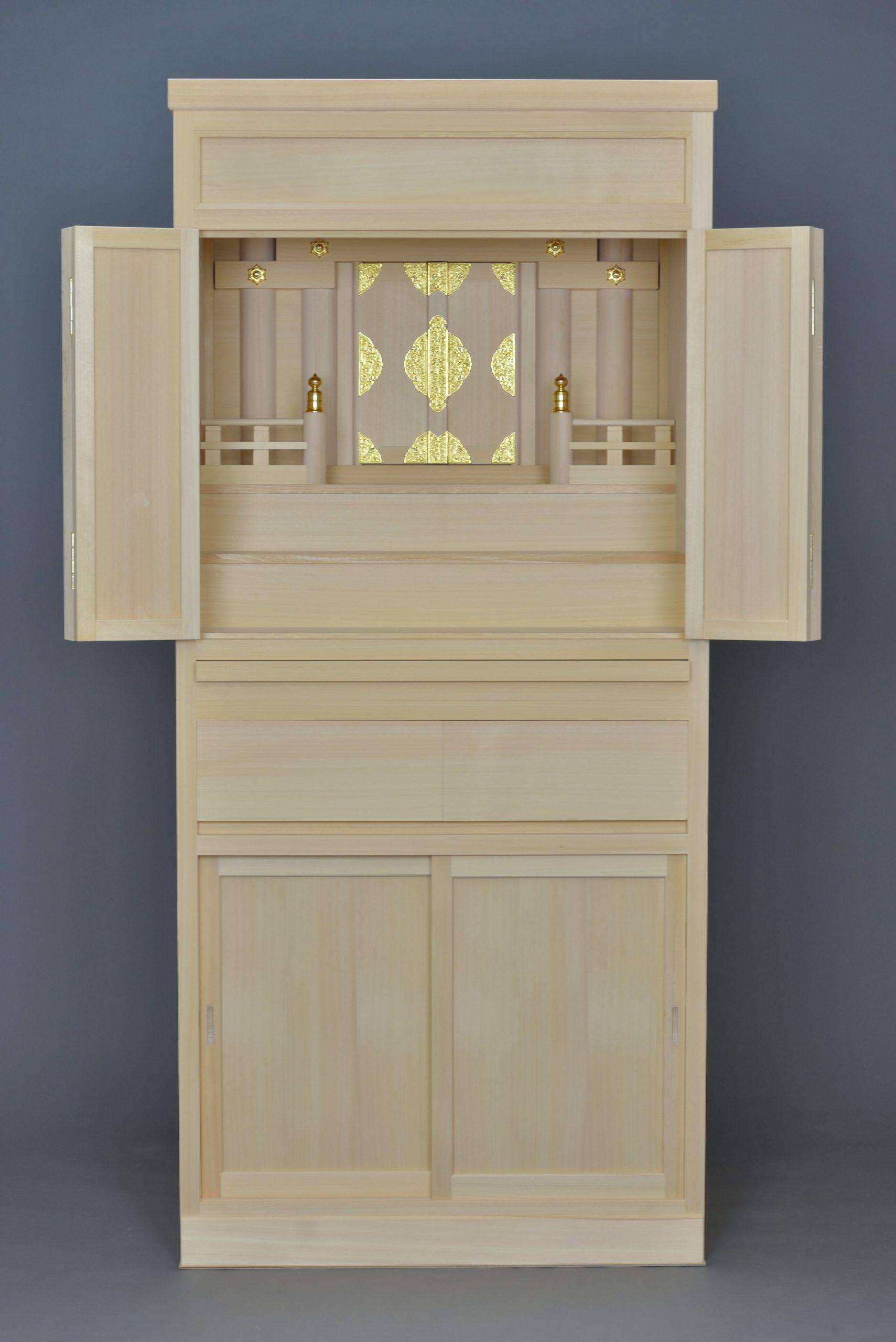 6尺型御霊舎の引出付 内部