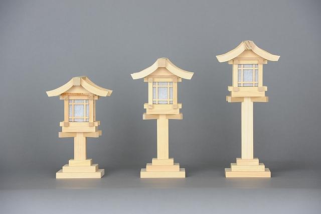 木製灯篭各種