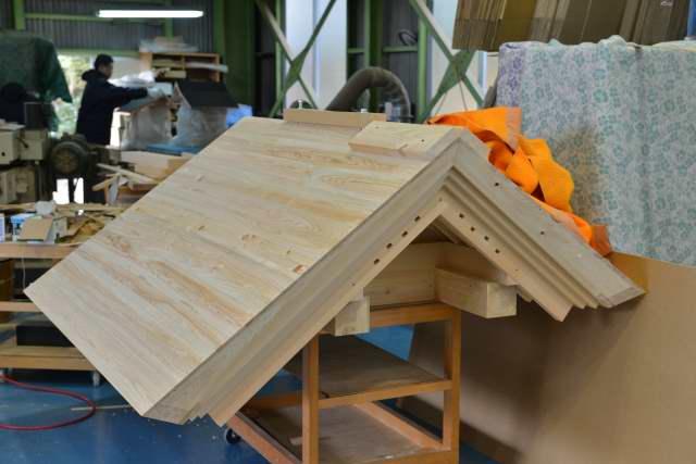 八百津神明神社 銅板下地屋根完成
