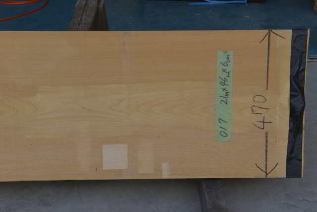 桧一枚板017 木表3