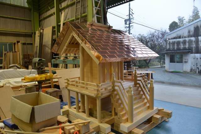 八百津神明神社 屋根銅板葺