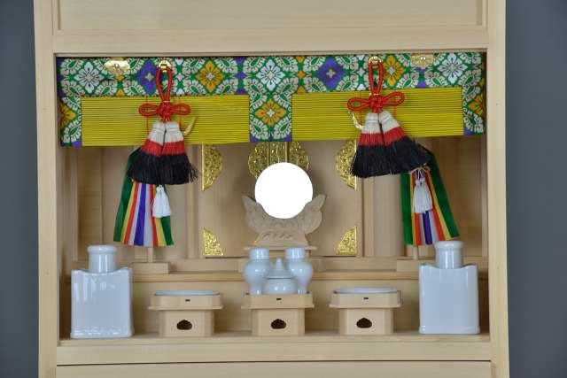 3尺型御霊舎 板建具 標準神具セット