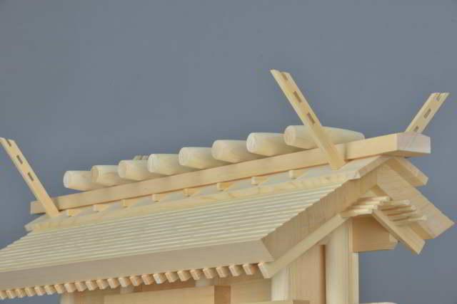厚屋根通三社宮 金具なし 屋根