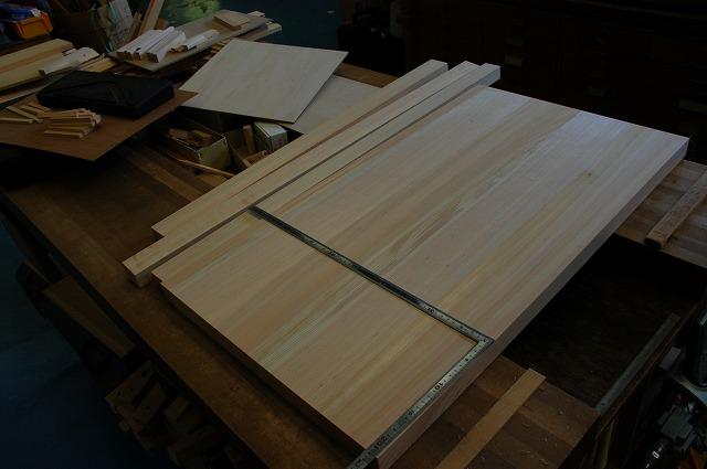 地桧特厚柾板接ぎ棚板