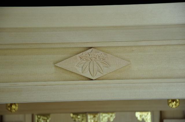 家紋彫刻 丸に笹竜胆