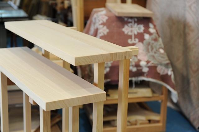 2段式八脚案の天板