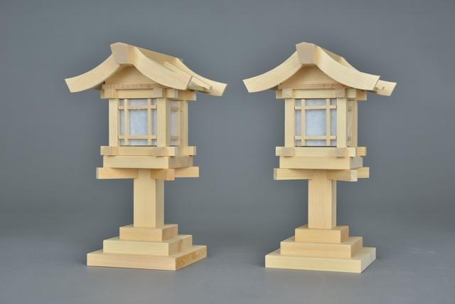 木製灯篭6寸側面
