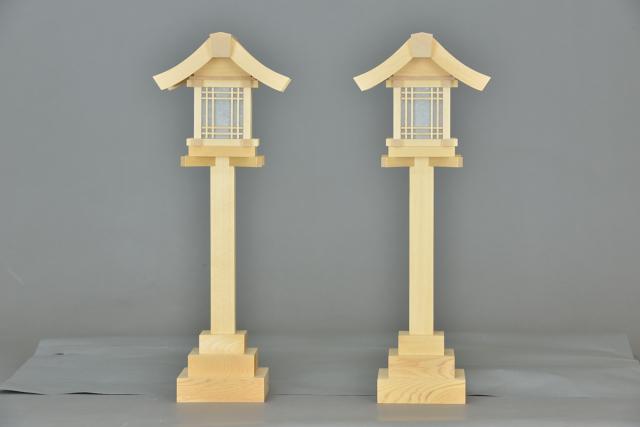 木製灯篭尺5の正面