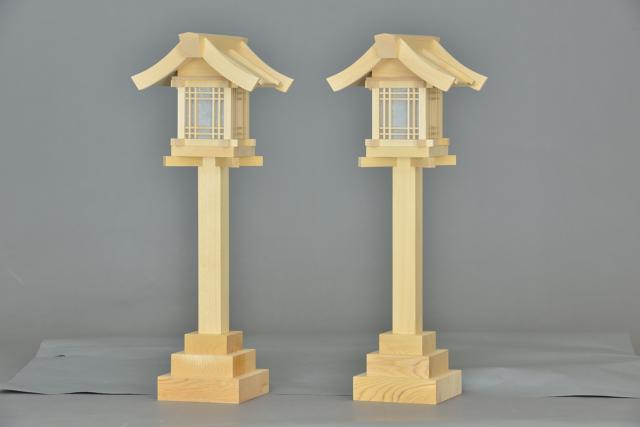 木製灯篭尺5の斜面
