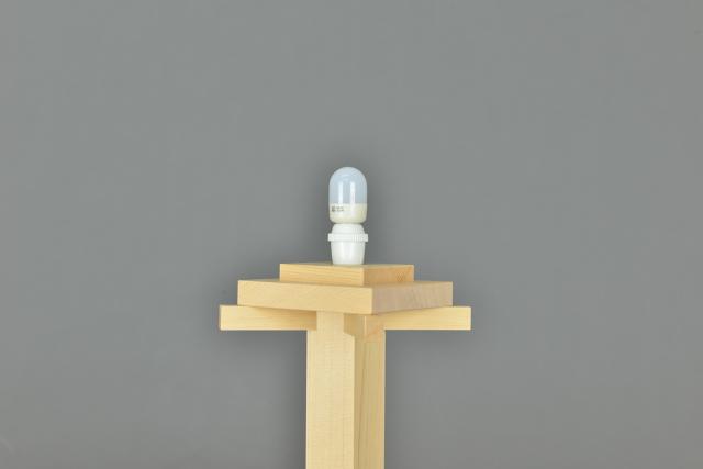 木製灯篭尺のLED球